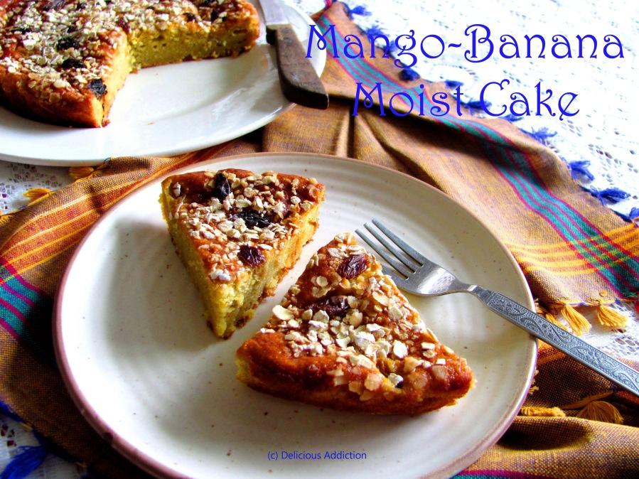 Mango-Banana Moist Cake