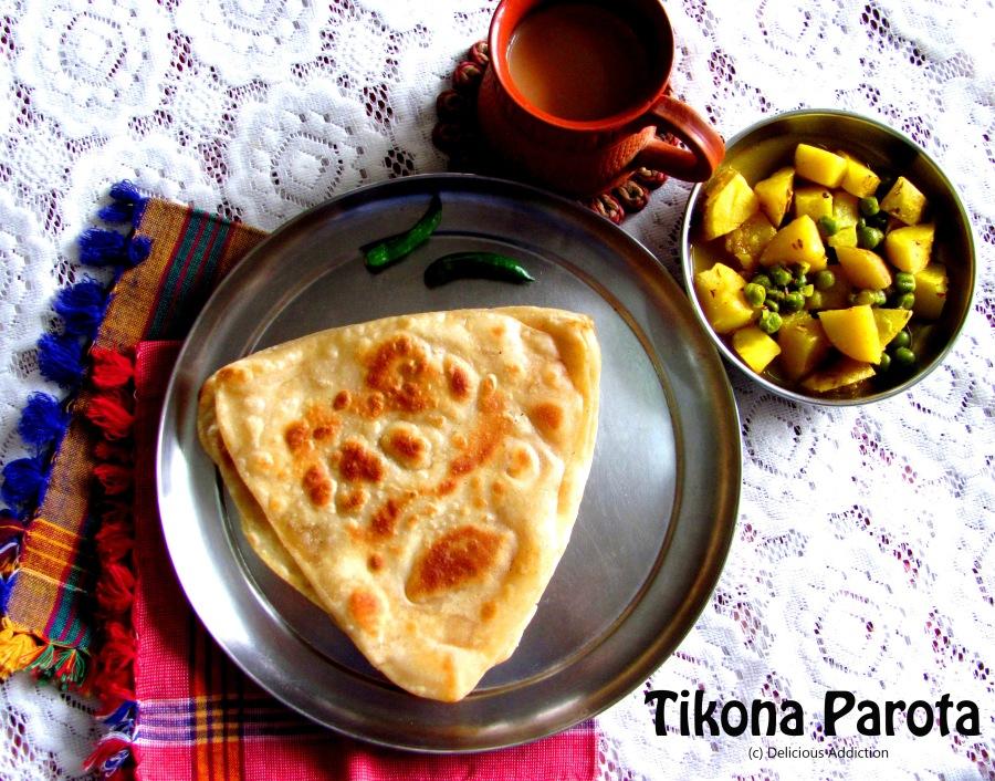 Tikona Parota (Bengali Triangle FlatBread)