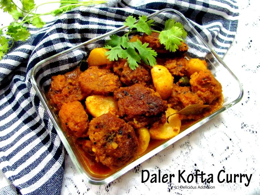 Daler Kofta Curry (Lentil FritterCurry)
