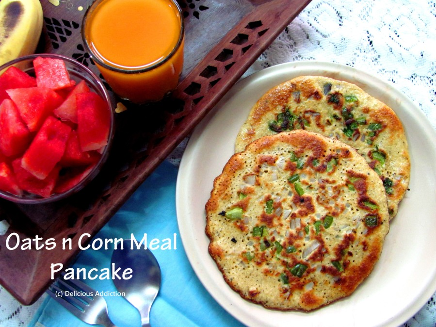 Oats and Corn Meal Pancake