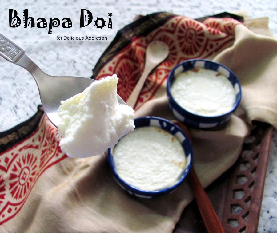 Bhapa Doi (BakedYogurt)