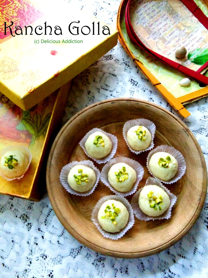Kancha Golla (A Type of Bengali Sweet made from Indian Cottage Cheese)