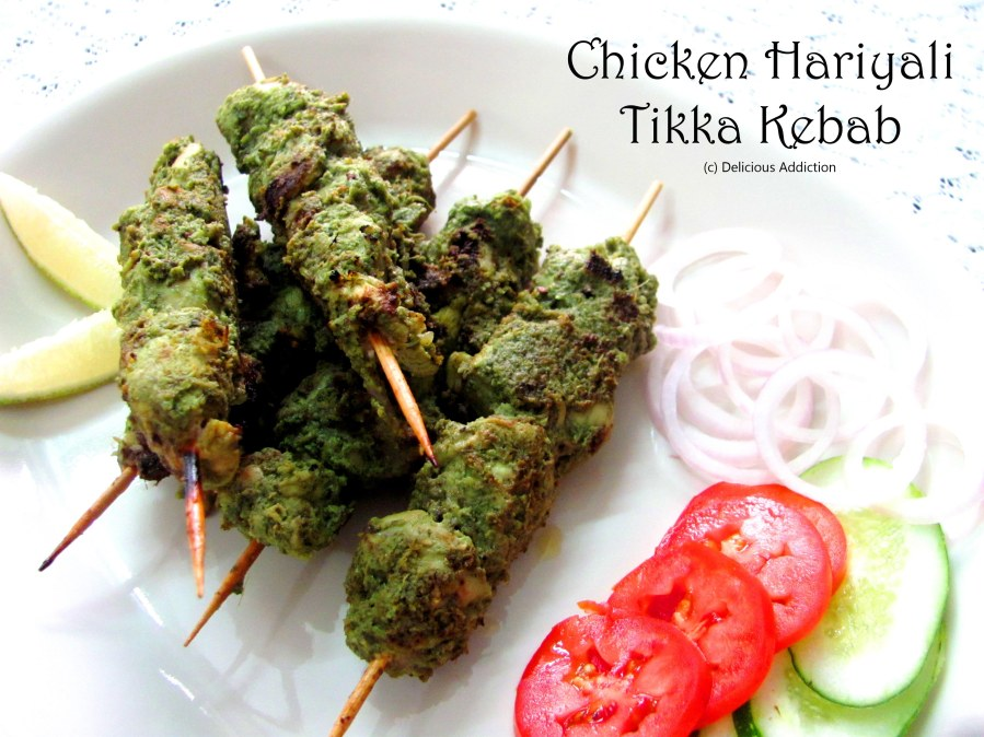 Chicken Hariyali TikkaKebab