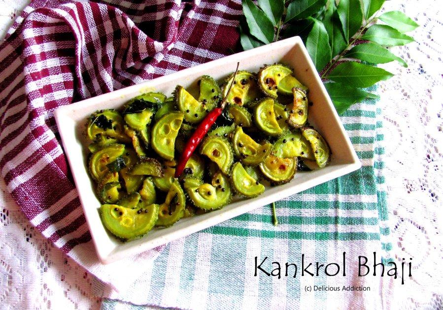 Kankrol Bhaji (Teasel Gourd StirFry)