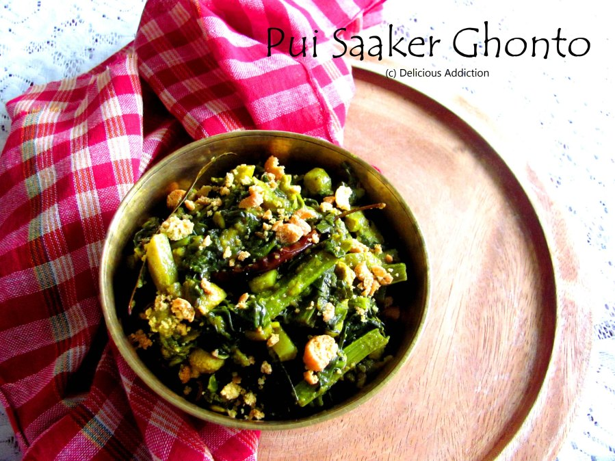 Pui Saaker Ghonto (Malabar Spinach Curry)