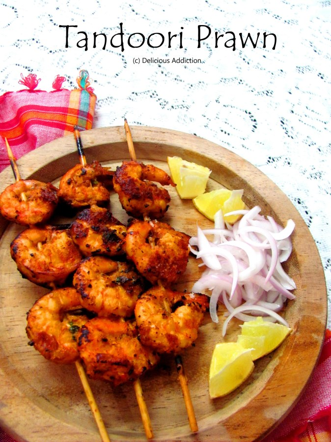 Tandoori Prawn (Grilled Prawn with Indian Spices)