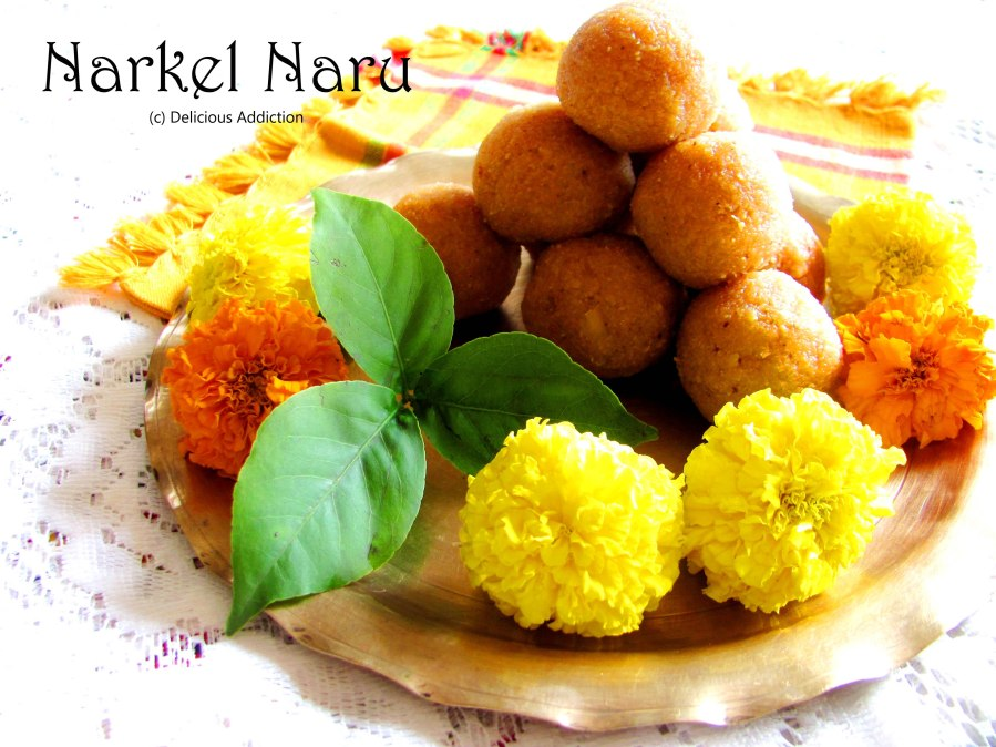 Narkel Naru (Bengali Sweet made of Coconut and Jaggery)