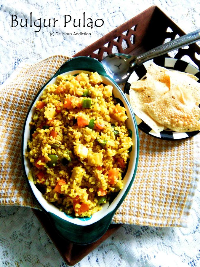 Bulgur Pulao (Bulgur Pilaf with Vegetables)