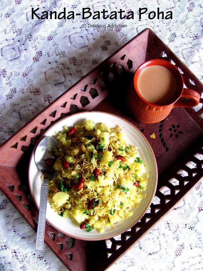 Kanda Batata Poha (Flattened Rice with Onion andPotato)
