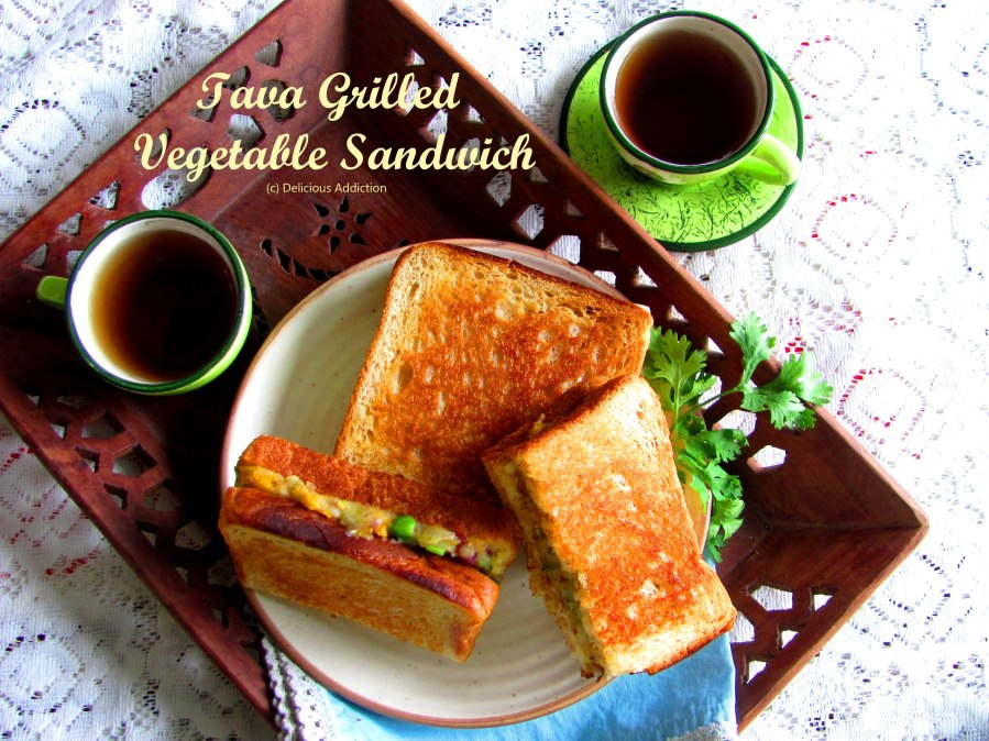 Tava Grilled Vegetable Sandwich