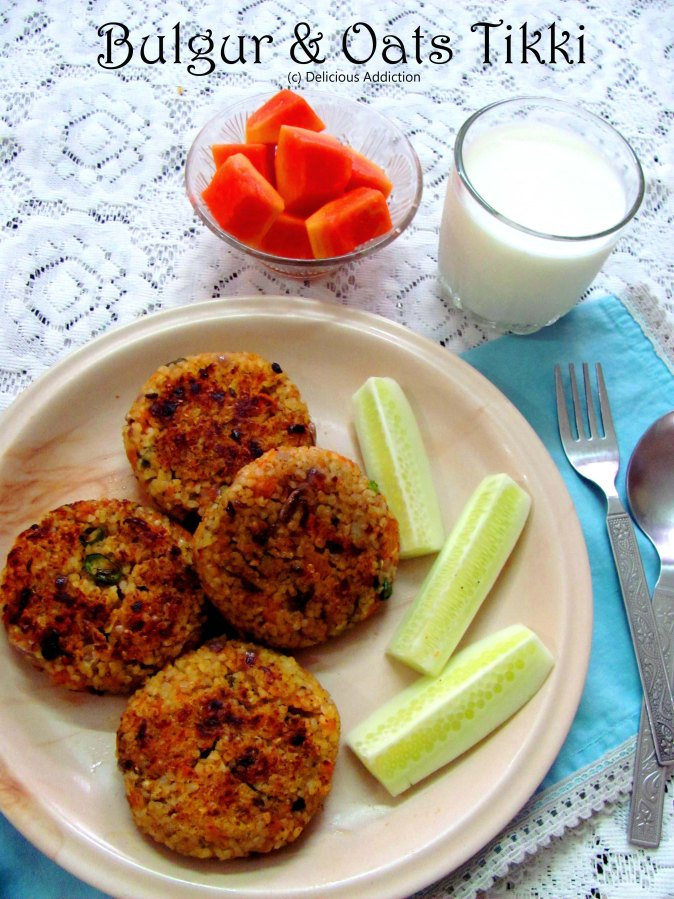 Bulgur & Oats Tikki (Bulgur & Oats Patty)