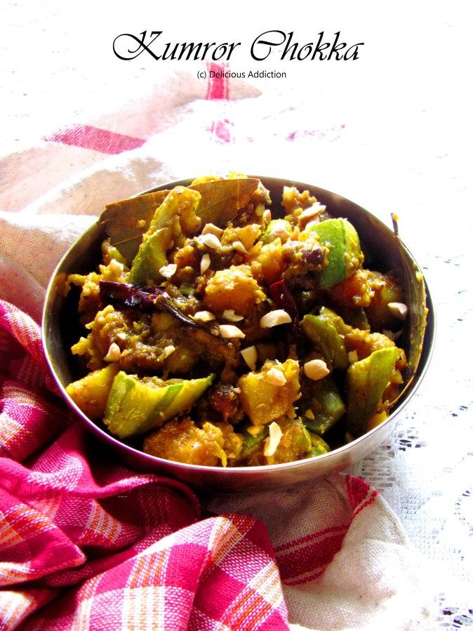 Kumror Chokka / Chokha (Pumpkin Curry BengaliStyle)