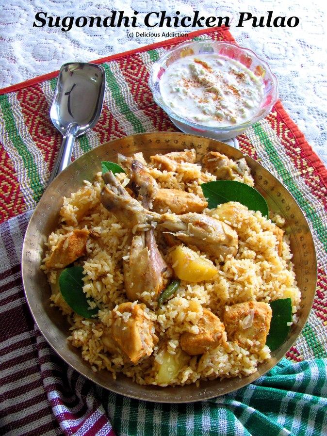 Sugondhi Chicken Pulao (Aromatic ChickenPilaf)