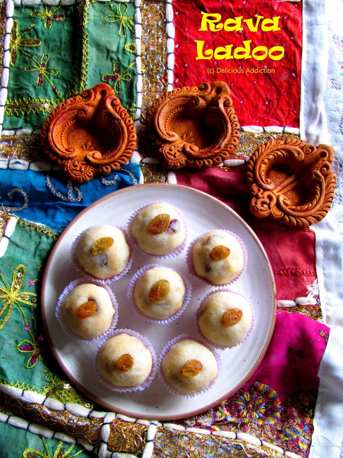 Rava Ladoo (Sweet made with Semolina)