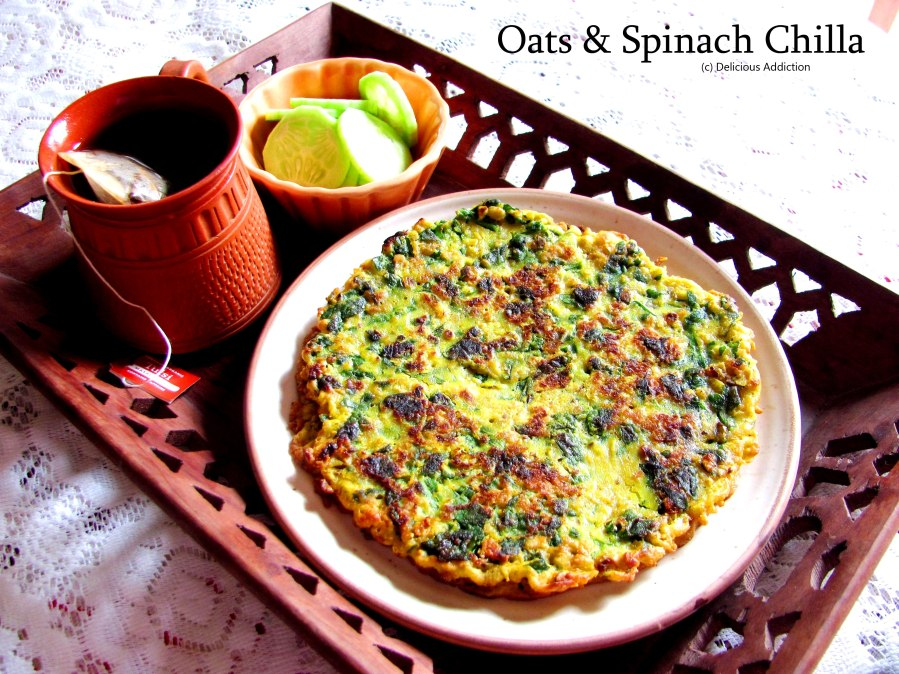 Oats & Spinach Chilla
