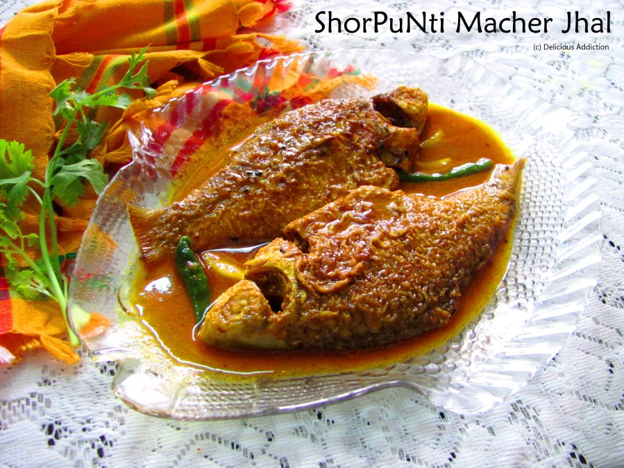 ShorPuNti Macher Jhal (Indian Native Fish Curry)
