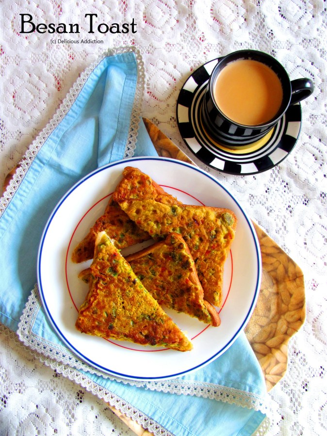 Besan Toast (Toasted Bread with GramFlour)