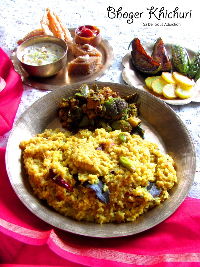 Bhoger Khichuri r Labra (Khichri and Mixed Vegetable Curry)