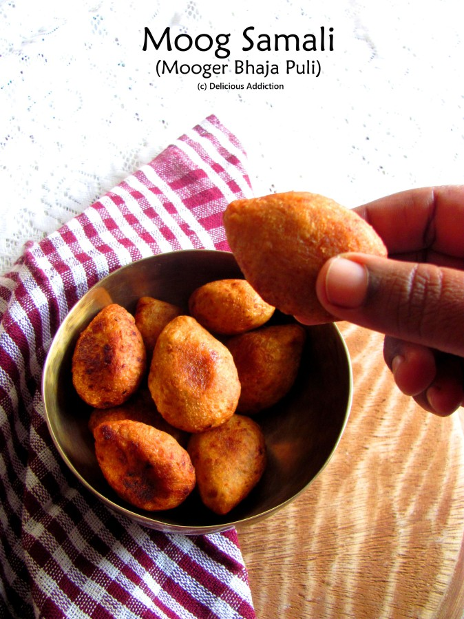 Moog Samali / Moog Daler Bhaja Pithe / Mooger Bhaja Puli (Traditional Bengali Sweet made with Yellow Lentil and Coconut)