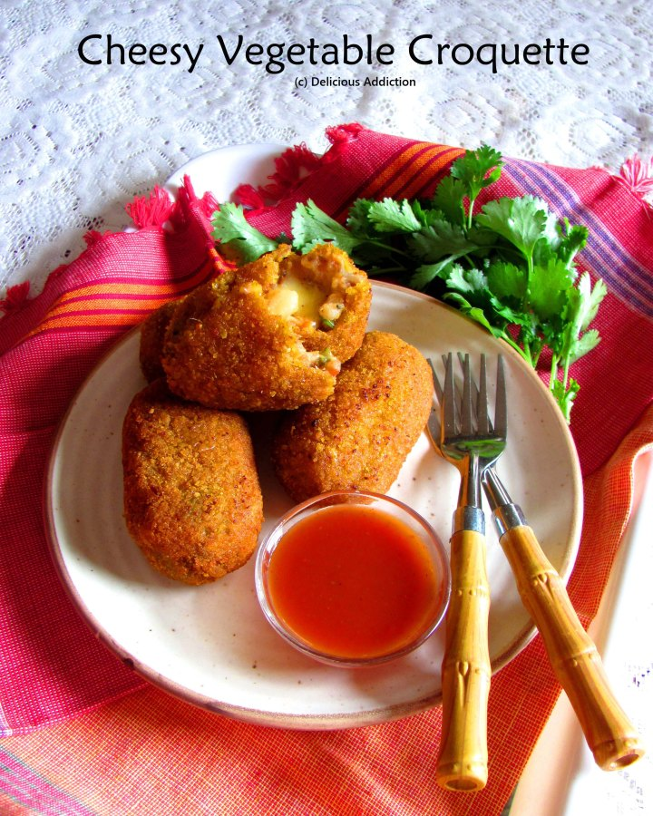 Cheesy Vegetable Croquette
