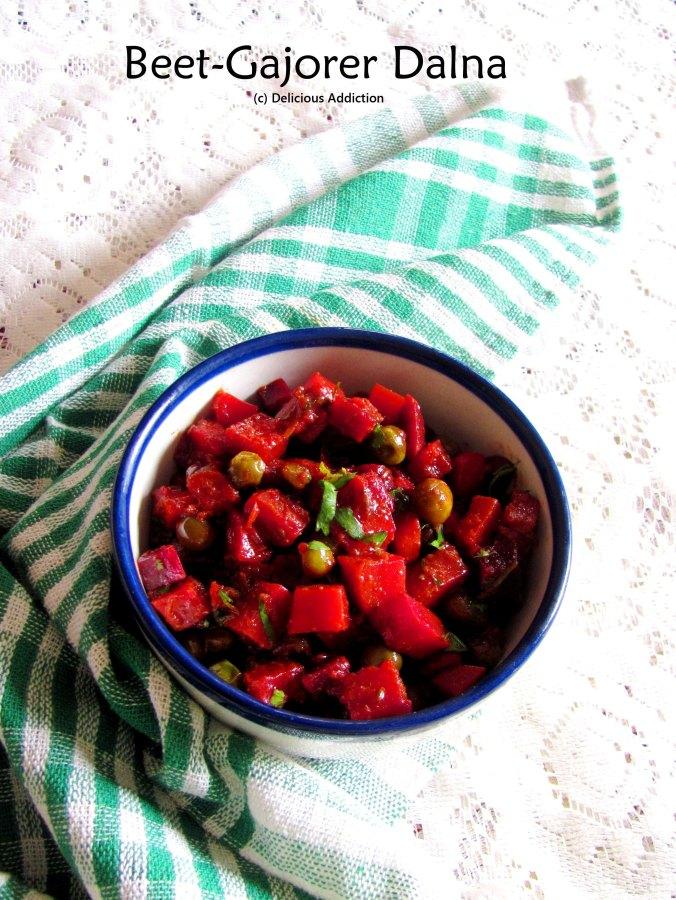Beet – Gajorer Torkari/Dalna (Bengali Beetroot and CarrotCurry)