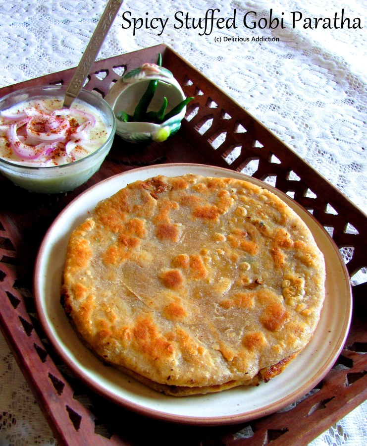 Spicy Stuffed Gobi Paratha