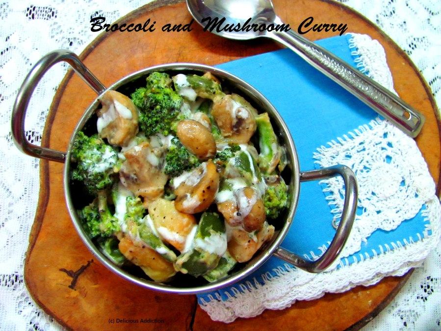 Creamy Broccoli n MushroomCurry