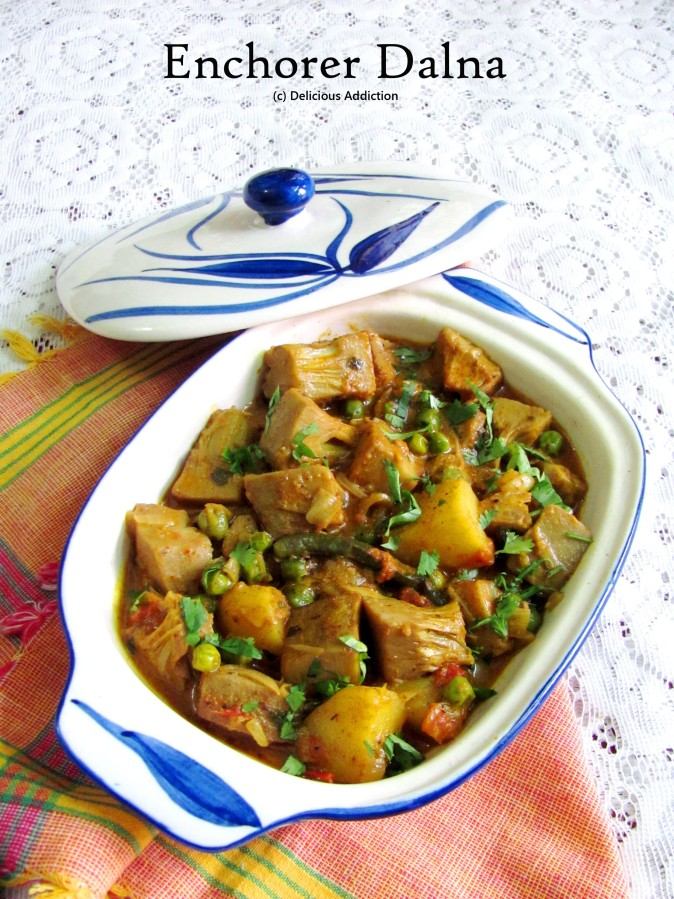 Enchorer Dalna (Green Jack Fruit Curry)