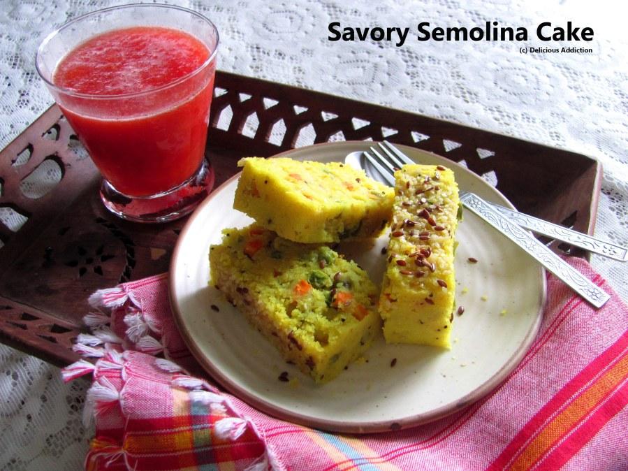 Savoury Semolina Cake