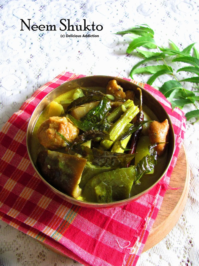 Neem Shukto (Mixed Vegetable Curry with Neem Leaves)