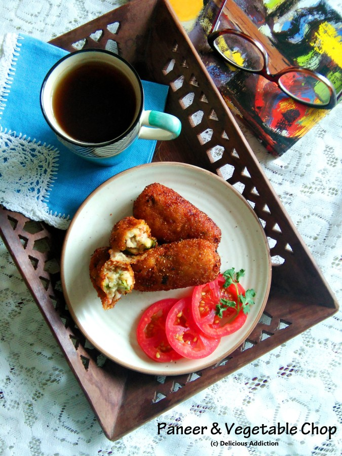 Paneer & Vegetable Chop (Cottage Cheese & VegetableCroquet)