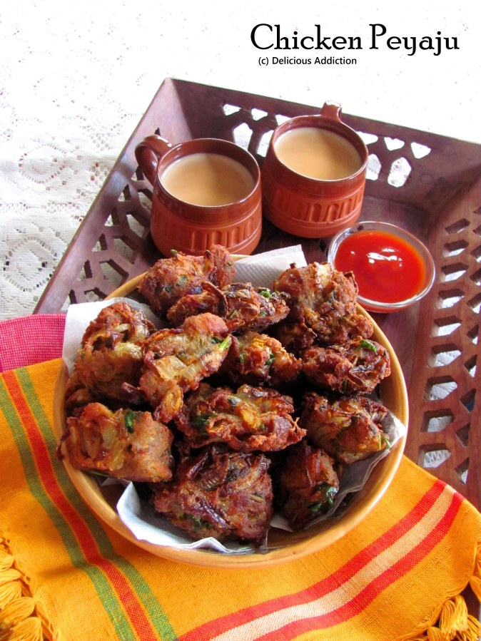 Chicken Peyaju / Pakora (Chicken Fritter)