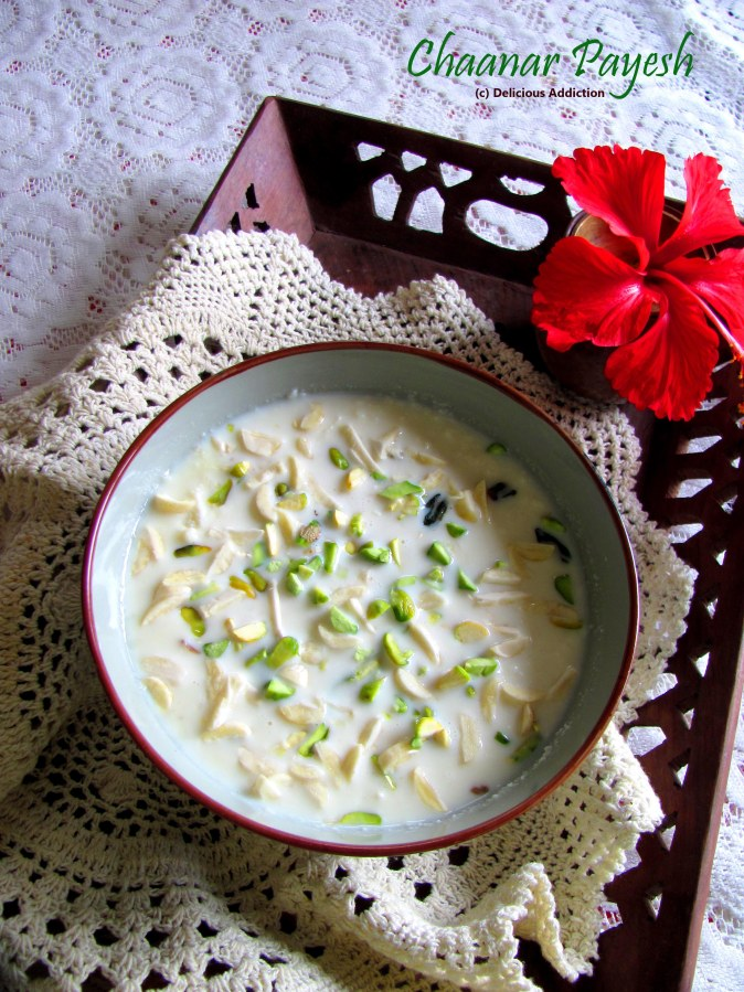 Chaanar Payesh (Milk Pudding with Indian Homemade Cottage Cheese)