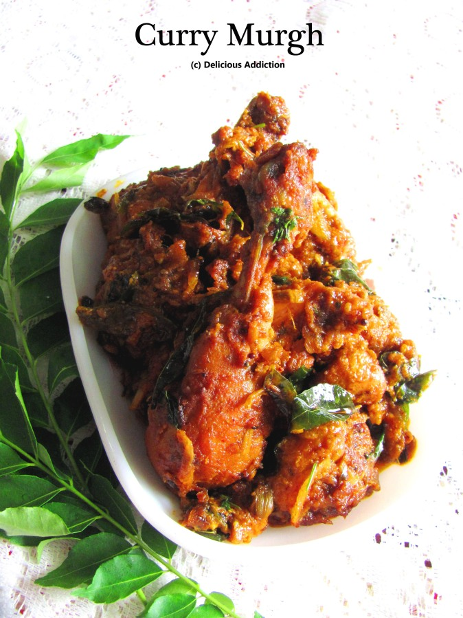 Curry Murgh (Dry Chicken Curry with Curry Leaves)