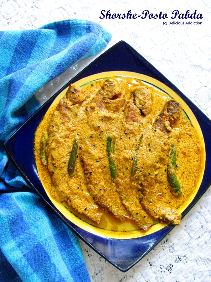 Shorshe – Posto Pabda (Indian Catfish in mustard-poppy seed gravy)