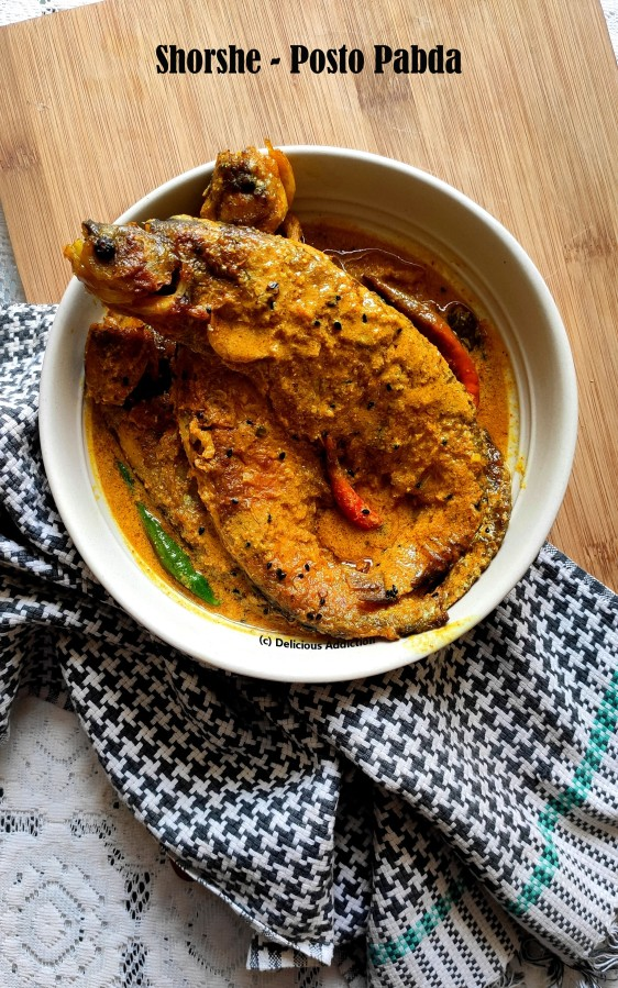 Shorshe – Posto Pabda (Indian Catfish in mustard-poppy seedgravy)