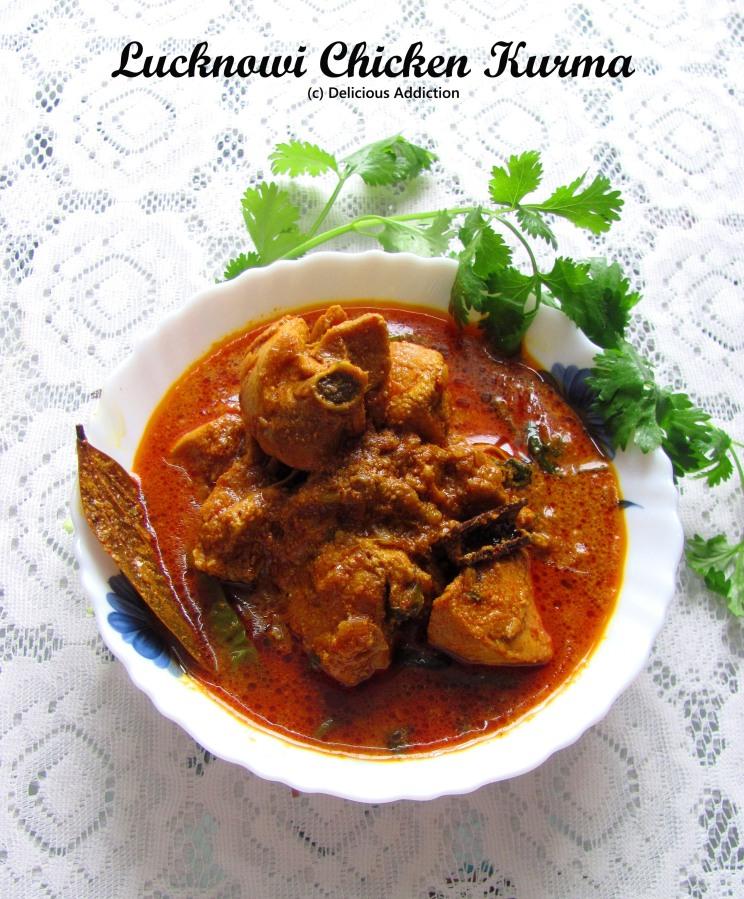 Lucknowi Chicken Kurma / Korma (Rich ChickenCurry)