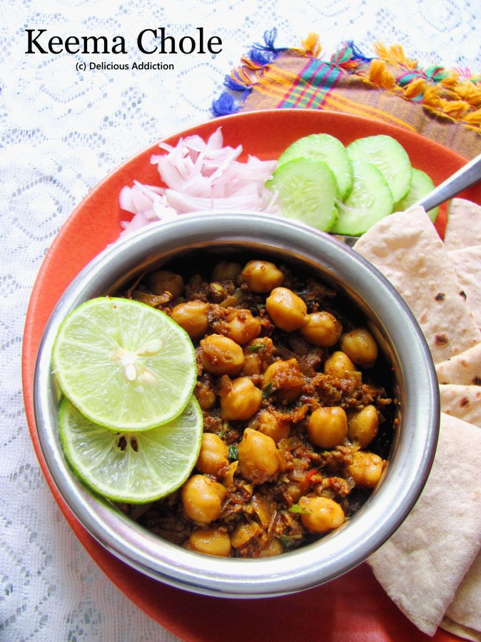 Keema Chole (Chick Pea Curry with Minced Mutton)