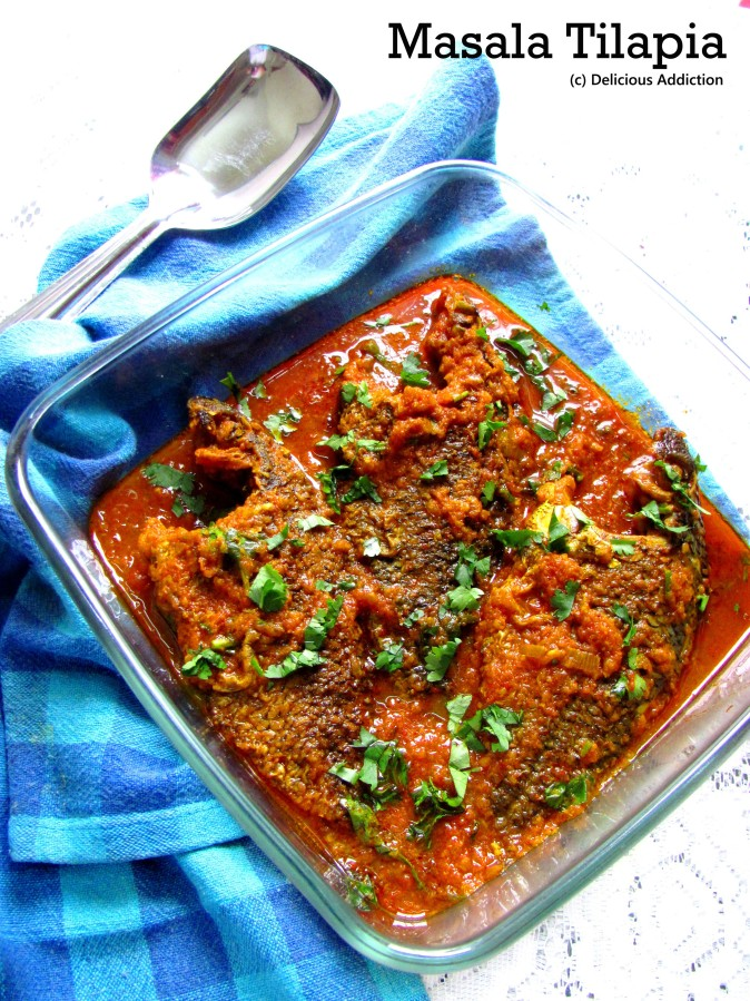 Masala Tilapia (Spicy Tilapia Curry)