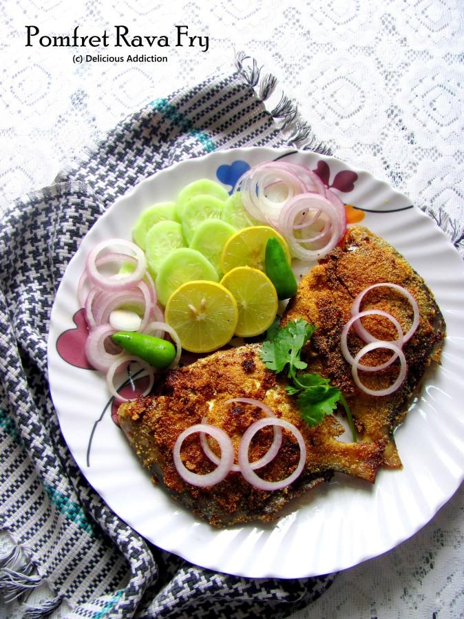 Pomfret Rava Fry (Pomfret Fry withSemolina)