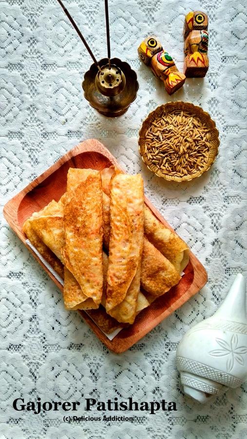 Gajorer Patishapta (A traditional BengaliSweet)
