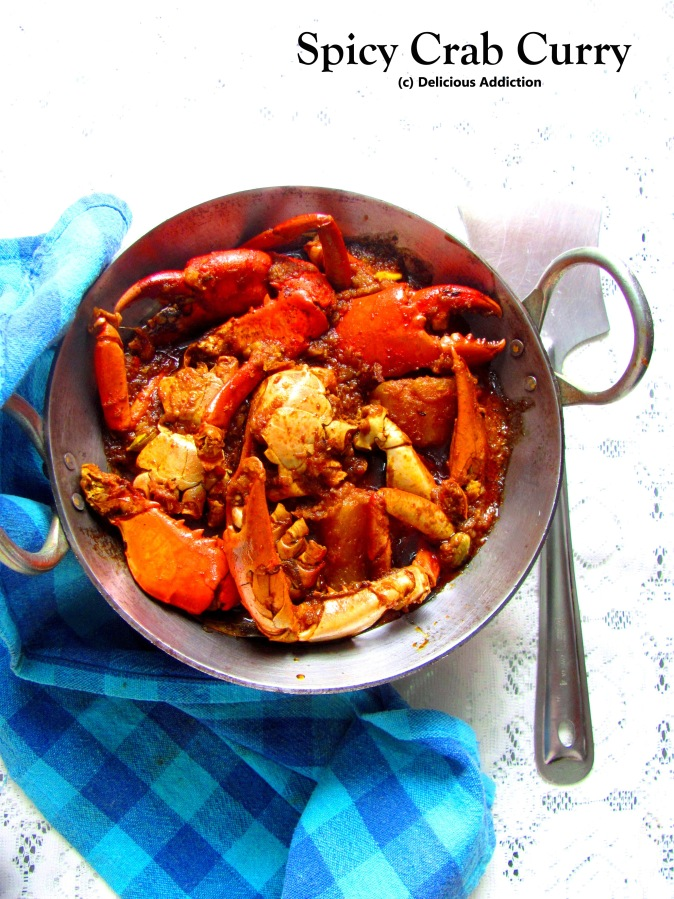 Kakrar Jhol or Spicy CrabCurry