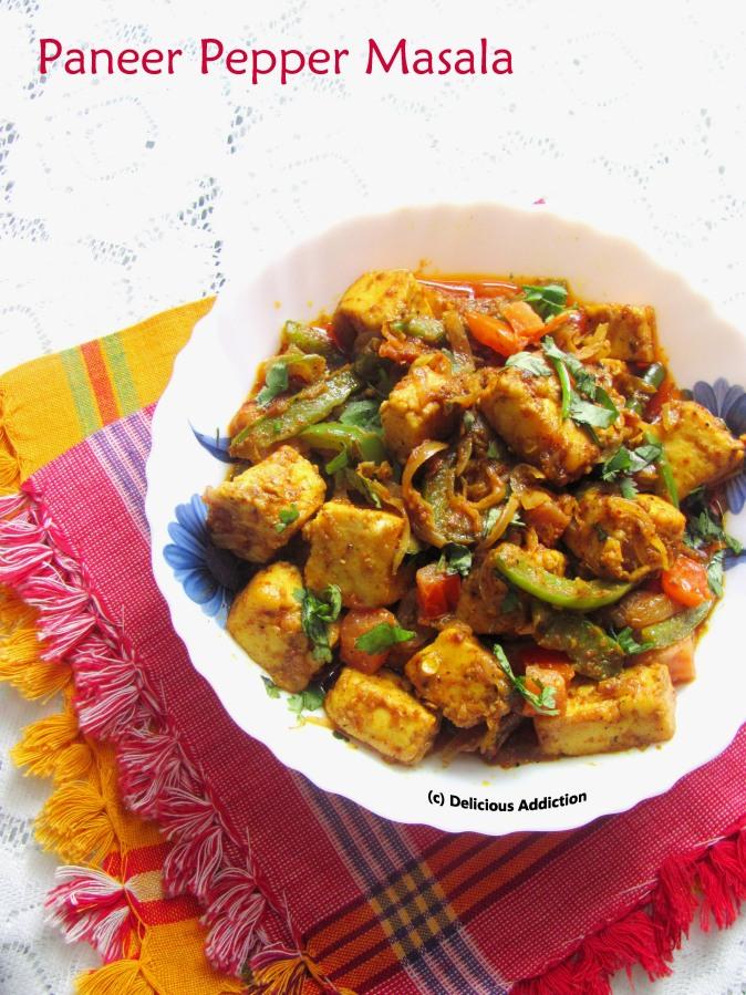 Paneer Pepper Masala (Stir Fried Paneer withPepper)