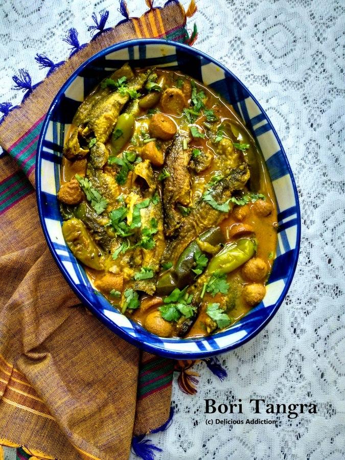 Bori Tangra (Cat Fish with LentilDumplings)