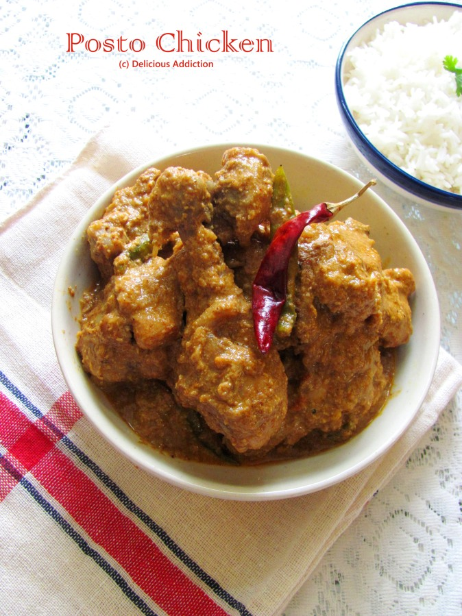 Posto Chicken (Chicken Curry with Poppy Seed Paste)