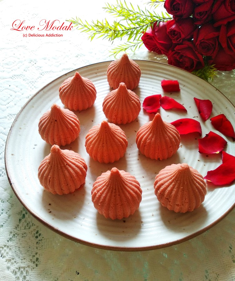 Love Modak (Indian Traditional Sweet with Chocolate Filling)