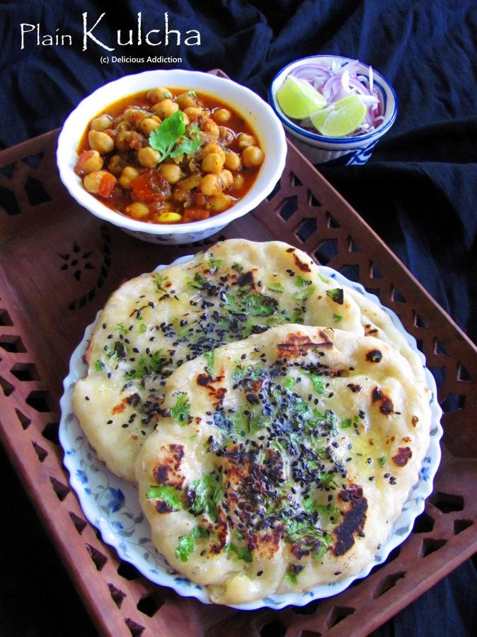Plain Kulcha (Indian Flat Bread cooked onTava)