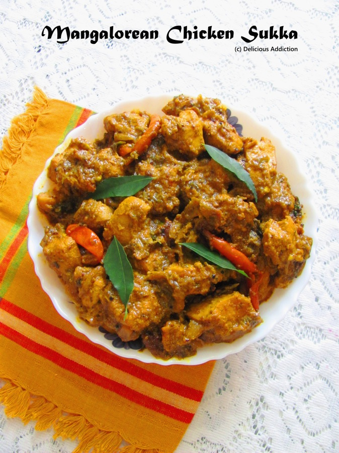 Mangalorean Chicken Sukka (Spicy Chicken Curry from South India)