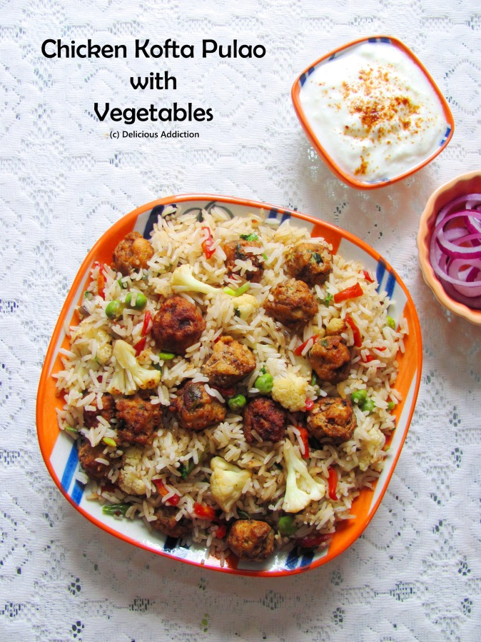 Chicken Kofta Pulao with Vegetables