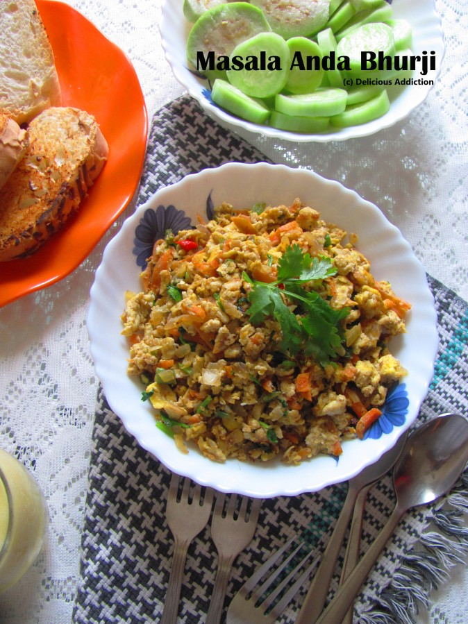 Masala Anda Bhurji (Indian Style Spicy Scrambled Egg)